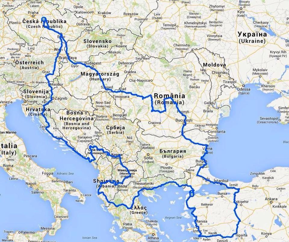 Balkanem na motorce
