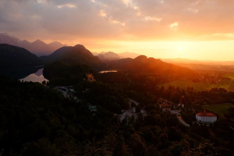 Výhled z Neuschwansteinu