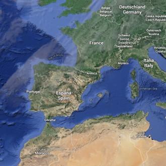 Body zájmu západní Evropa a Maroko