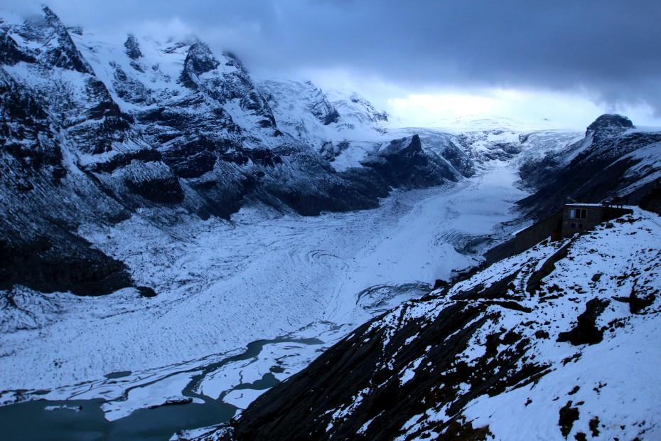 Výhlídka na ledovec Pasterze