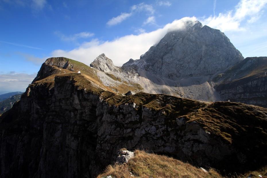 Hora Mangart v pozadí