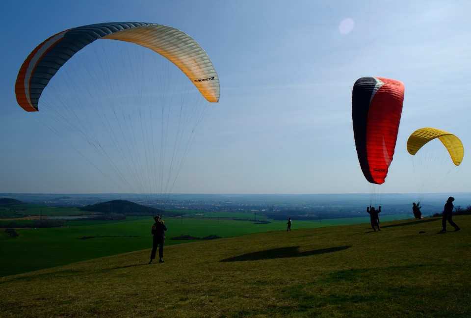 Paraglidisti na Rané