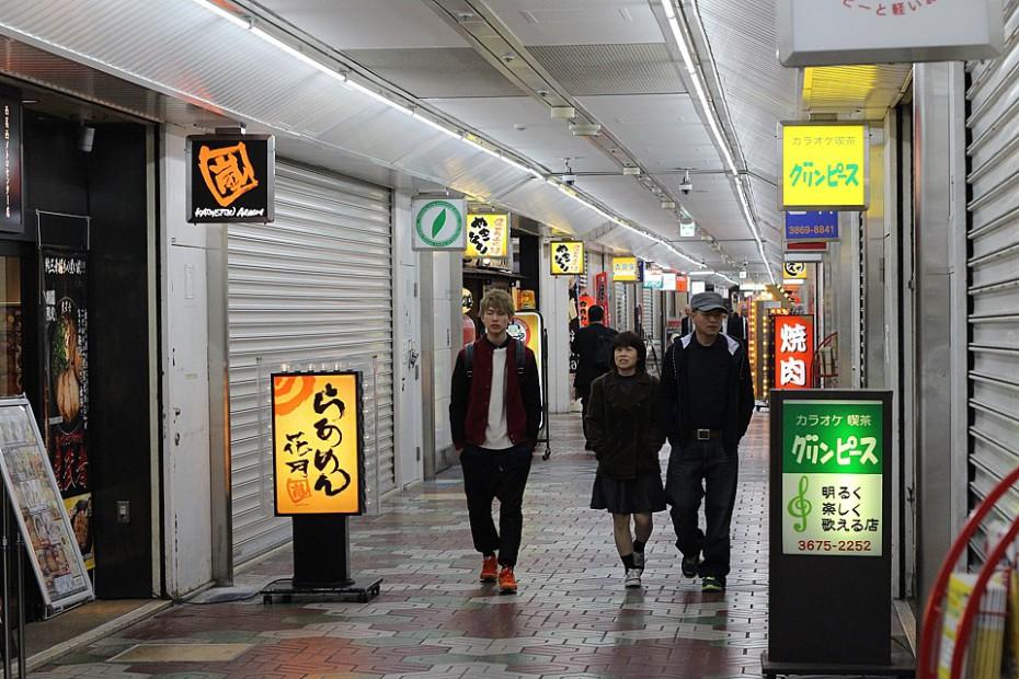První den v neznámém Tokiu – průzkum uličky s obchůdky a restauracemi