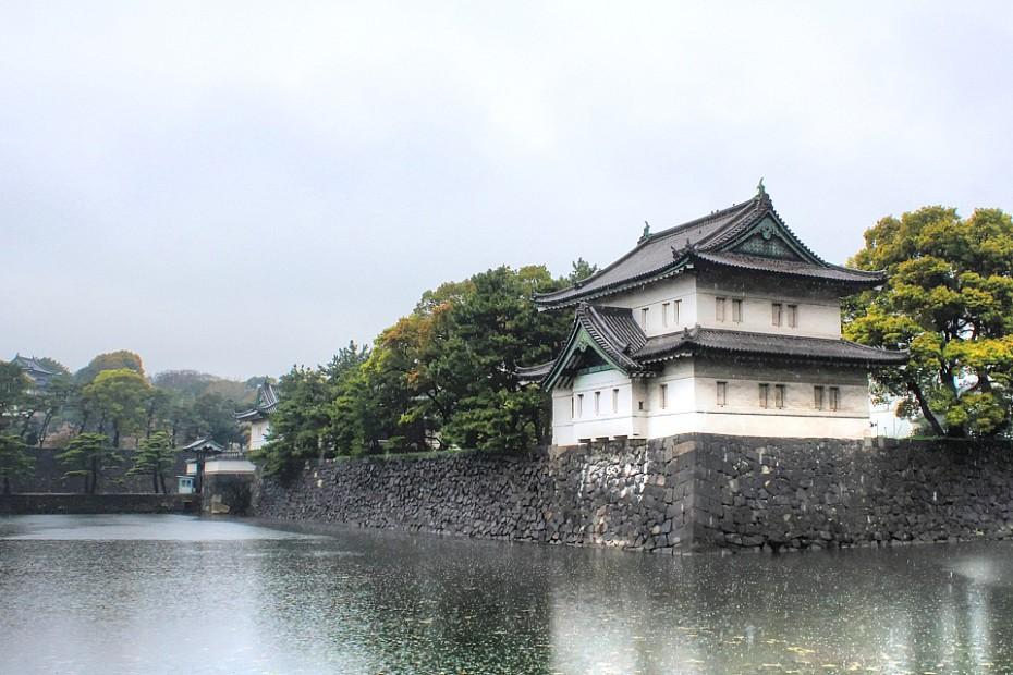 Strážní věž podél Císařských zahrad