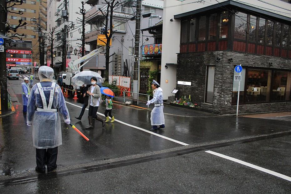 Řízení dopravy a chodců v Japonsku