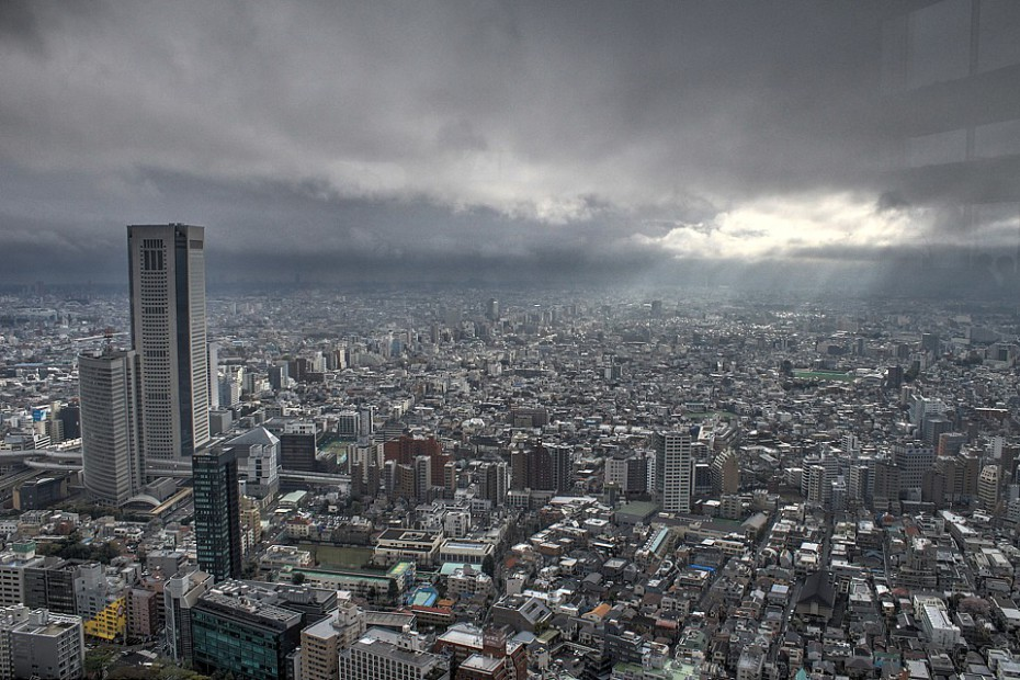 Výhled z Metropolitní radnice na Tokio