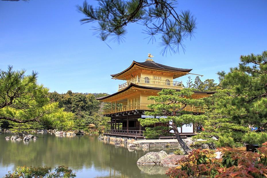 Zlatý pavilon Kinkakudži v Kjótu