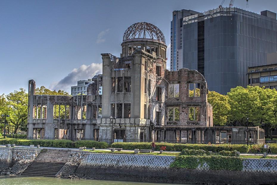 Atomový dóm od českého architekta Jana Letzela je součástí Mírového parku v Hirošimě