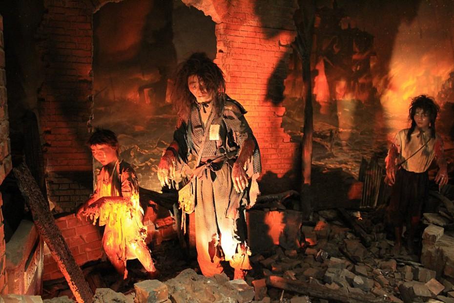 Asi takhle to vypadalo v městě po výbuchu - Muzeum míru v Hirošimě