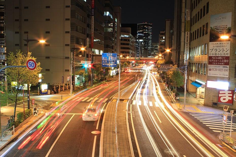 Ulice nočního Tokia