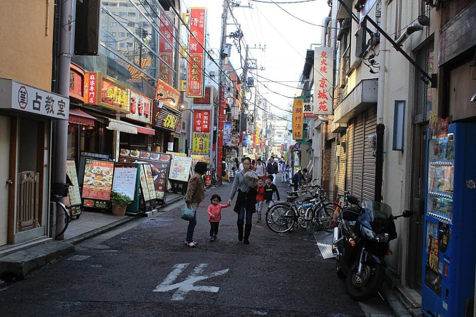 Jedna z ulic v Čínské čtvrti